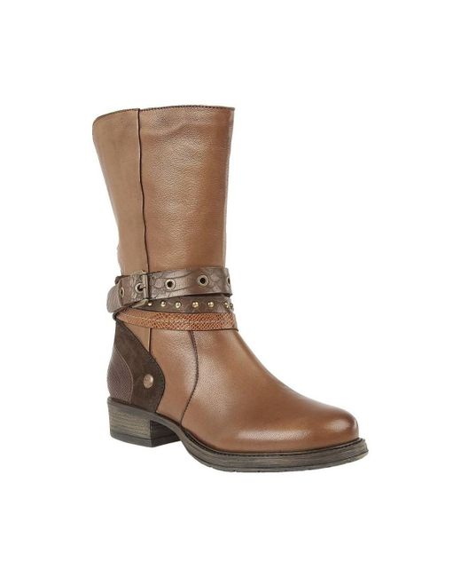 Lotus - Huambo Womens Calf Length Boots Women's High Boots In Brown - Lyst
