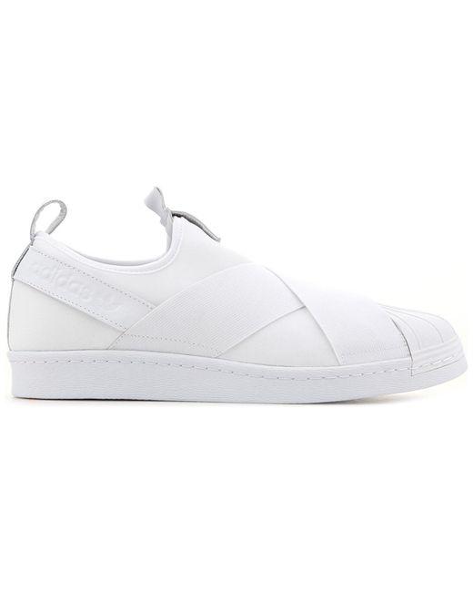 hot sales 423f5 bde98 Superstar Slip-on Bz0111 Men's In White