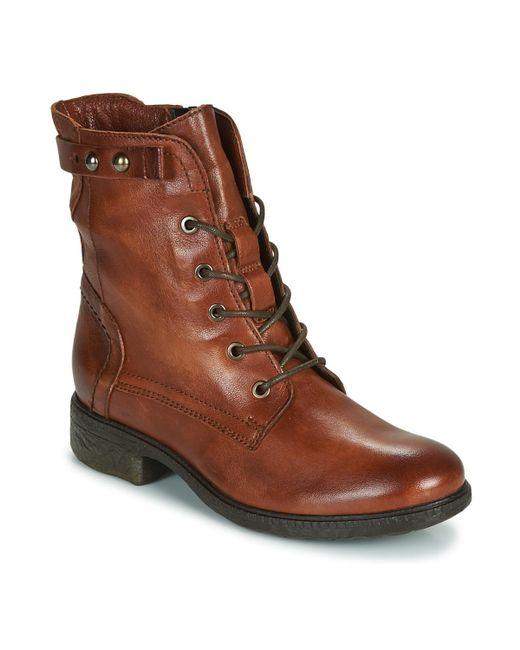 Dream in Green Ervane Women's Mid Boots In Brown