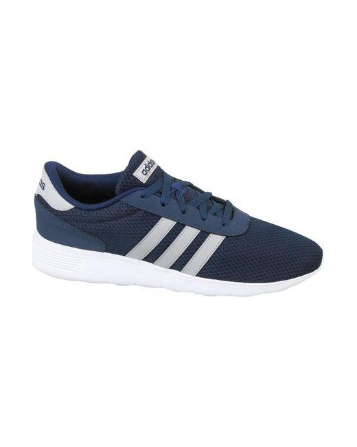 Adidas Blue Lite Racer Men's Shoes (trainers) In Multicolour for men