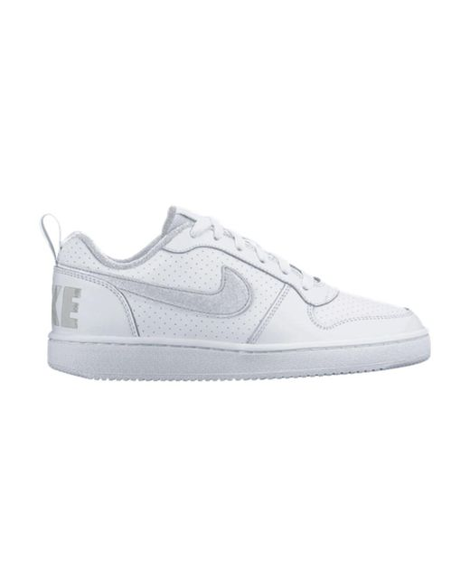 224e3f9b8847 Nike Court Borough Low Gs Women s Shoes (trainers) In White in White ...
