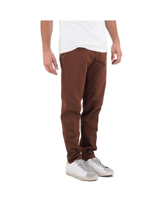 Pantalone Lungo WS19WSU66 26217 di White Sand in Brown da Uomo