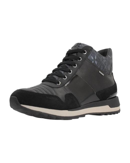 Bronceado Abastecer sonido  Geox D Aneko B Abx B Women's Shoes (high-top Trainers) In Black ...