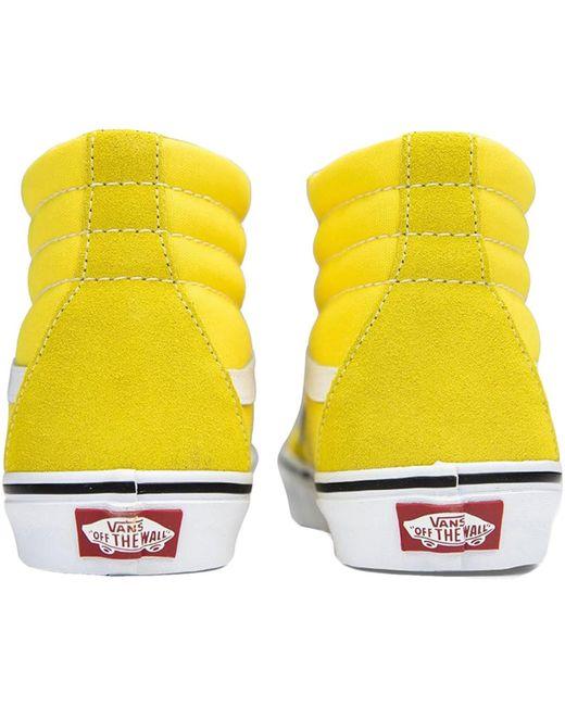 Sk8-Hi Chaussures Vans en coloris Jaune - Lyst