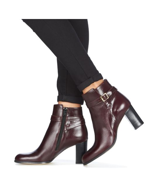 nouvelle saison original les mieux notés Jonak Leather Akil Women's Low Ankle Boots In Red - Save 12 ...