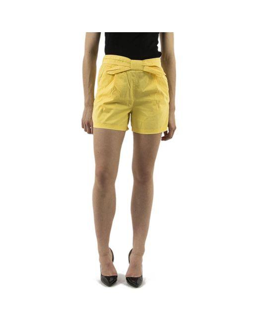 Short 10213877 flame Vero Moda en coloris Yellow