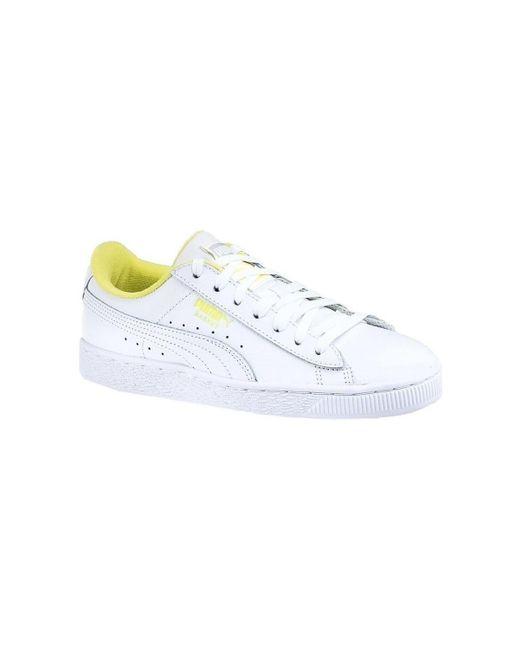 PUMA White Basket Classic Lfs Athl Shoes (trainers)