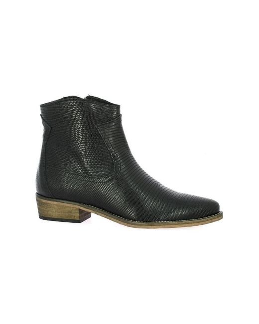 Boots Boots cuir iguane So Send en coloris Black