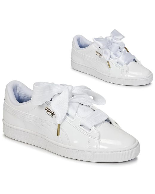 buy popular d8470 83cad Basket Heart Patent Wn's Women's Shoes (trainers) In White