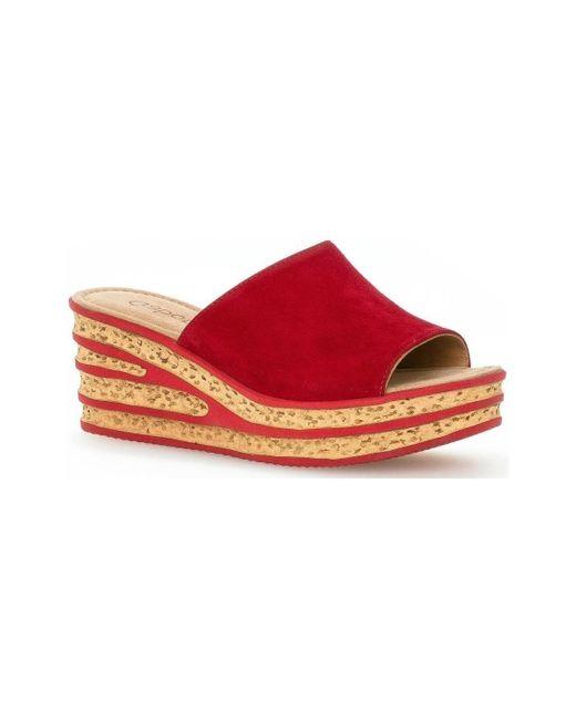 Sandalias informales estilo mu Gabor de color Red
