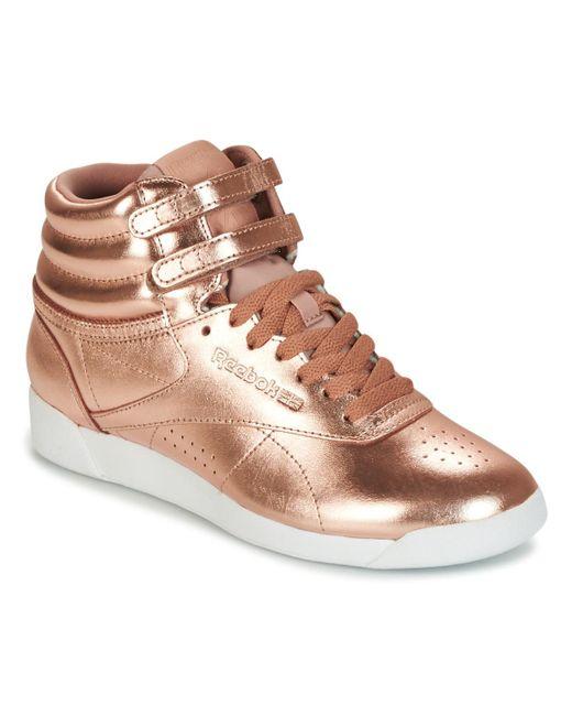 Fs Hi Metallic Women's Shoes (high top Trainers) In Gold