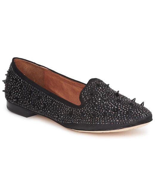 Sam Edelman Black Ruby Point-toe Leather Flats