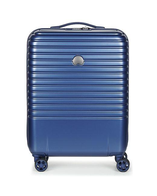 Delsey - Caumartin Plus Valise Trolley Cabine Slim 4 Doubles Roues 55 Cm Women's Hard Suitcase In Blue for Men - Lyst