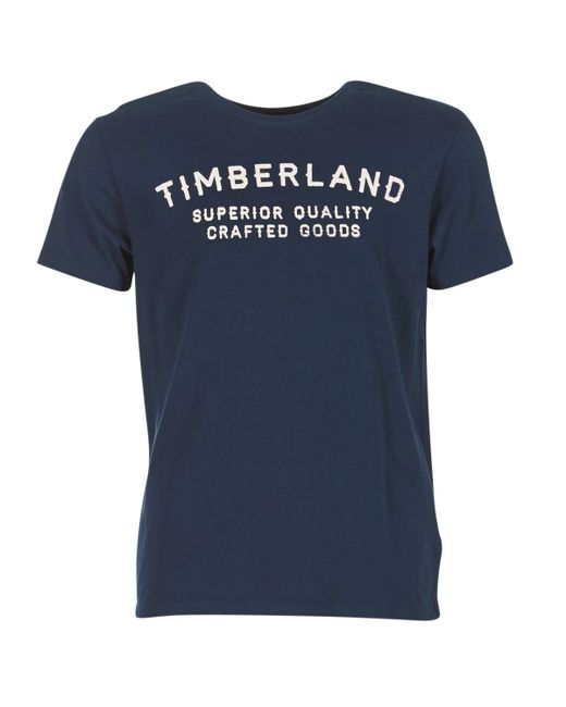 Timberland - Kennebec River Elevated Men's T Shirt In Blue for Men - Lyst