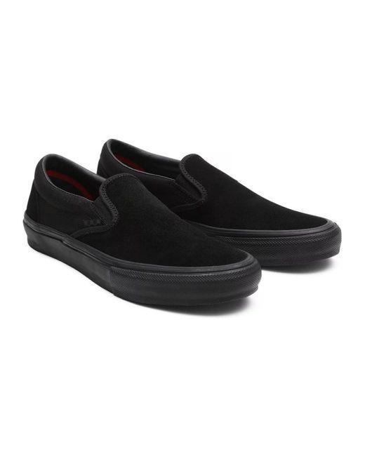 Chaussures de Skate SLIP ON PRO black black Vans pour homme - Lyst