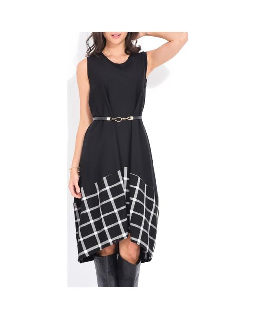 Yours Paris Printed Long Dress Women's Long Dress In Black
