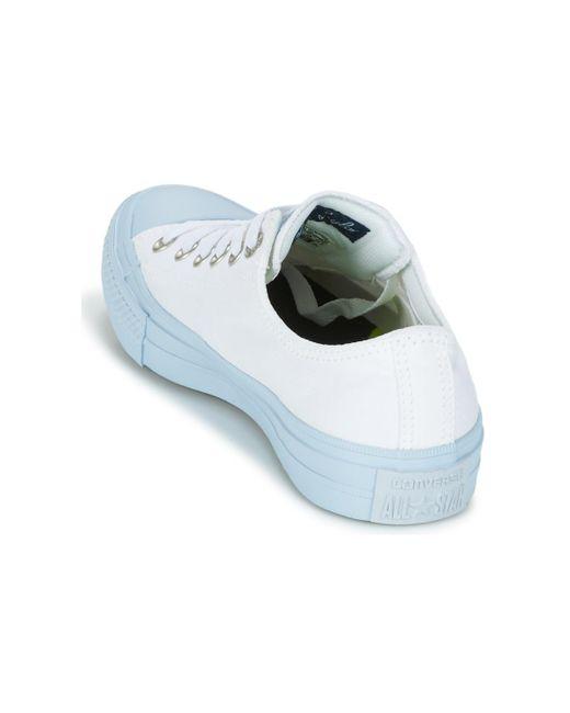 Taylor Chuck All Star Ii Bleu Ox Femmes Midsoles Chaussures En Pastel b67Ygfy