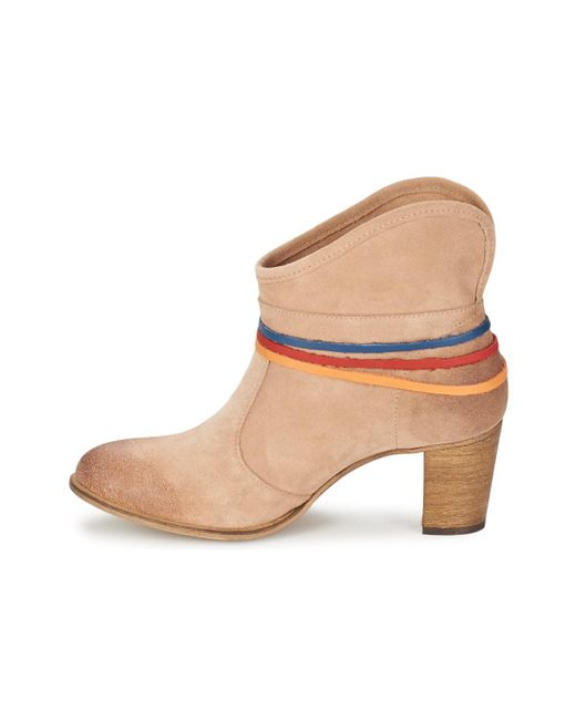 ... Betty London - Natural Ajoura Women's Low Ankle Boots In Beige ...