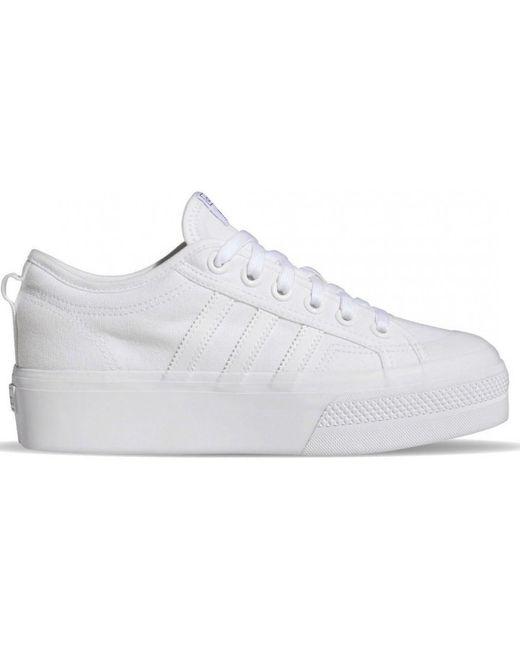 Adidas Lage Sneakers Fv5322 Nizza Platform W in het White