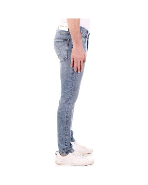 Calvin Klein J30J310253 Jeans homme de coloris bleu