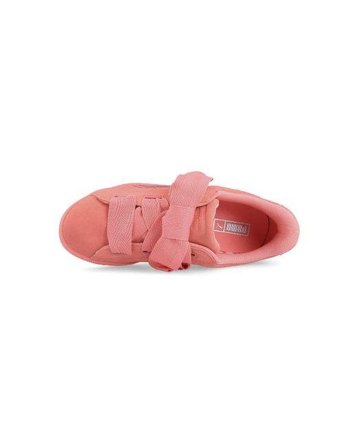 designer fashion 8b906 d94ef PUMA Suede Heart Snk Jr 364918 05 Women's Shoes (trainers ...