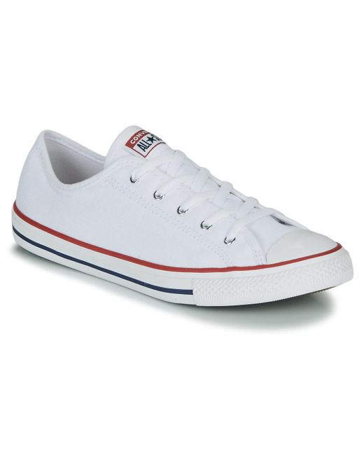 new styles big discount detailed pictures Chuck Taylor All Star Dainty Gs Canvas Ox Women's Shoes (trainers) In White