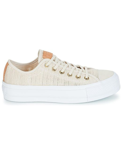 27dc8c1a9ffd ... Converse - Natural Chuck Taylor All Star Lift-ox Shoes (trainers) - Lyst  ...