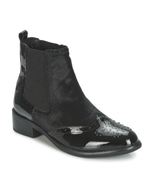 Moda In Pelle   Auletti Women's Low Ankle Boots In Black   Lyst