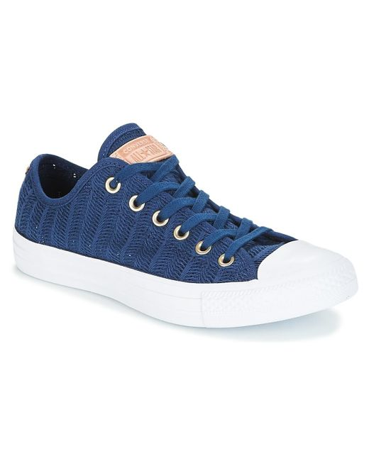 Converse Lage Sneakers Chuck Taylor All Star-ox in het Blue