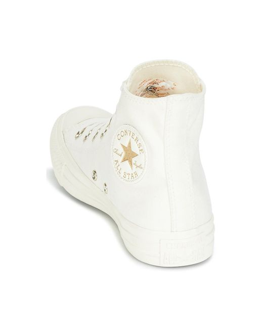 89a33143aae3 ... Converse - Natural Chuck Taylor All Star Hi Mono Glam Canvas Color  Women s Shoes (high ...