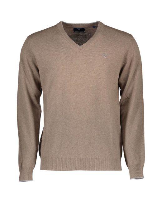 1603.086123 Pull Gant pour homme en coloris Brown
