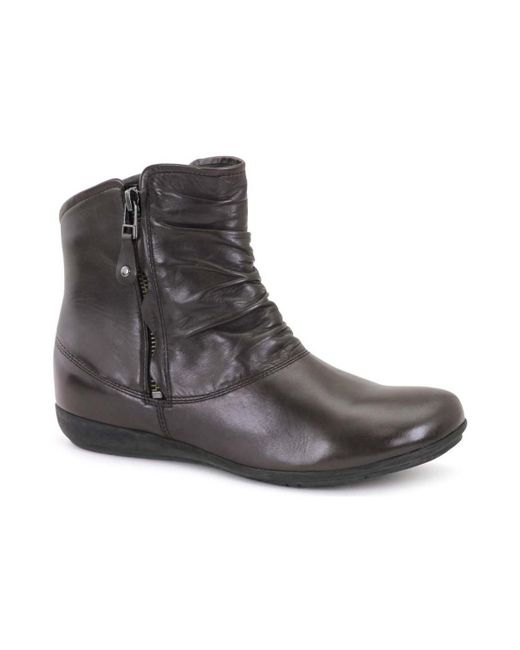 Josef Seibel - Faye 05 Ruche Womens Casual Boots Women's Low Ankle Boots In Brown - Lyst