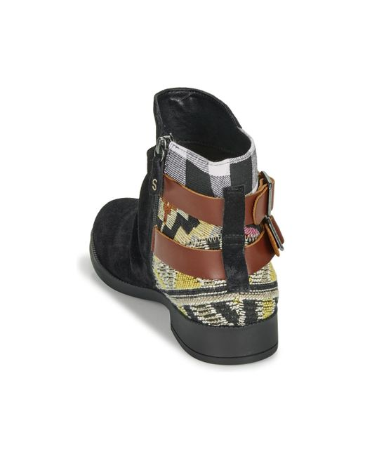new style dbe50 8479f Desigual Ottawa Patch Women's Mid Boots In Black - Lyst
