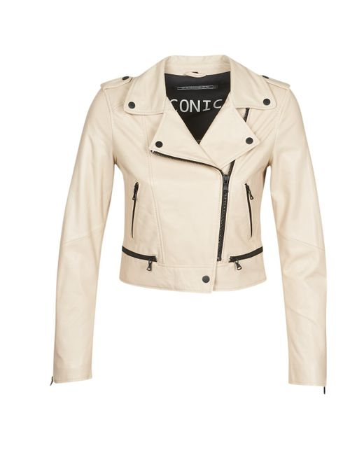 Oakwood Natural Yoko Leather Jacket