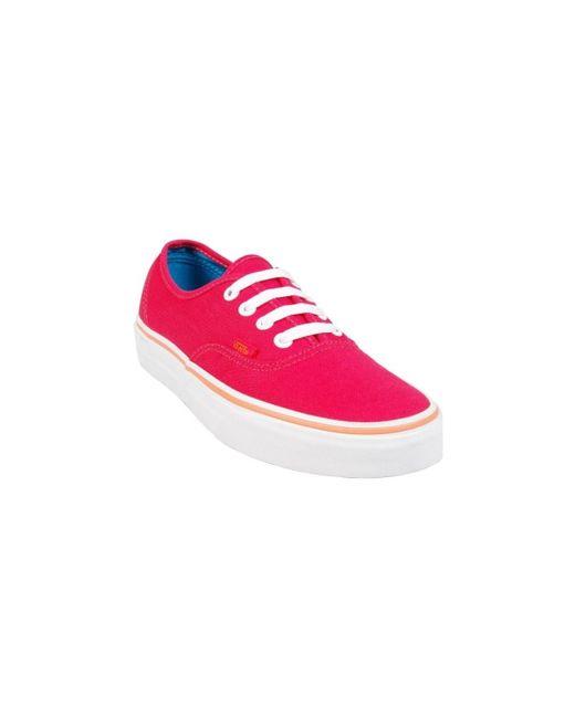 Tennis F Authentic Lollipop femmes Chaussures en rouge Vans en ...