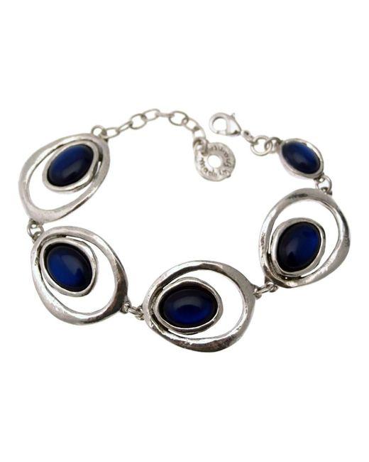 12159 BRA 01 bleu nuit Bracelets Lili La Pie en coloris Blue