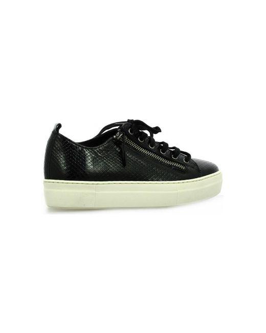 Baskets cuir serpent Chaussures So Send en coloris Black