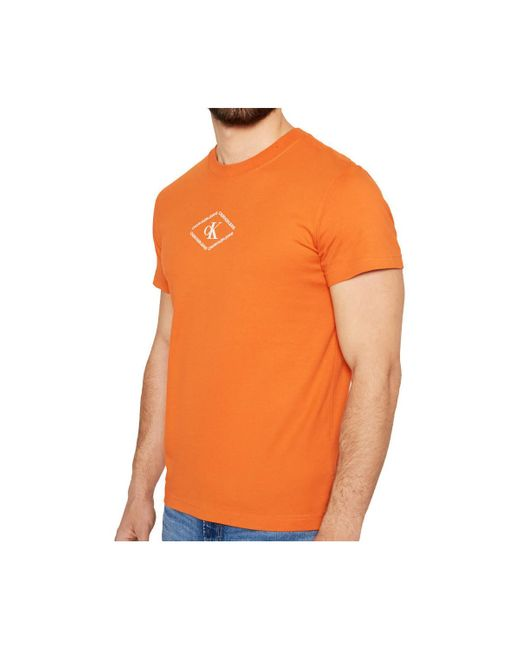 Camiseta Calvin Klein de hombre de color Orange