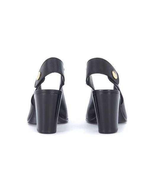 Lemaré Sandalo con tacco in pelle nera con bottone women's Sandals in Discount 2018 Outlet Finishline yuk2gr