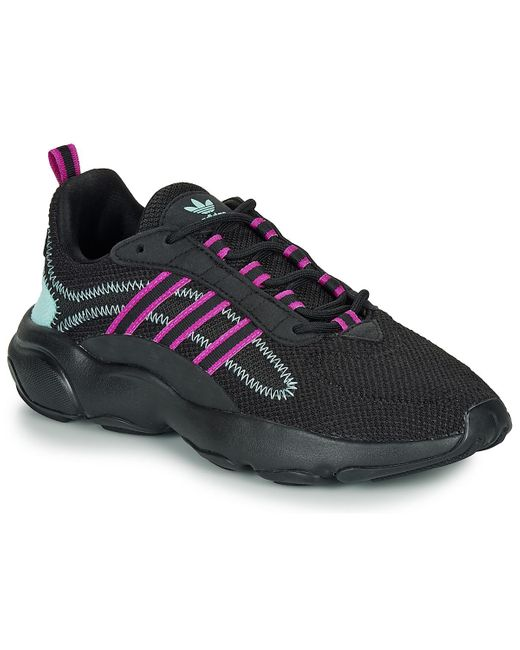 Chaussures Haiwee Originals Core Black Vivid Pink and Clear Aqua Femme Adidas