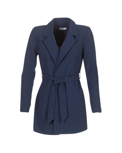 ONLY - Dicte Runa Women's Trench Coat In Blue - Lyst