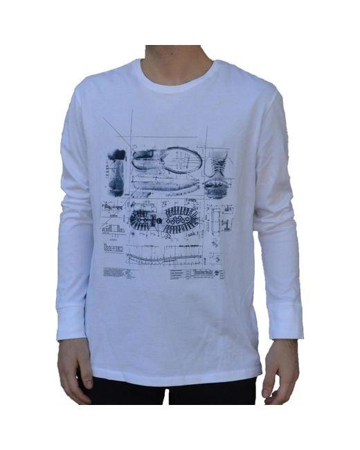 LS ICONS MAGLIA BIANCA T-shirt Timberland pour homme en coloris White