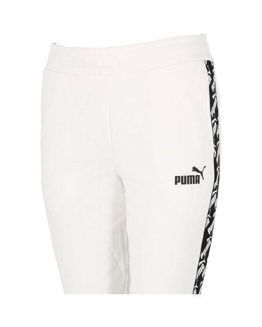 Jogging Amplified wht pant l PUMA en coloris White