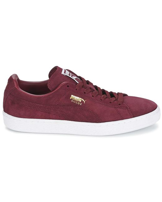 ... Lyst PUMA - Suede Classic + Men s Shoes (trainers) In Red for Men ... 4b1fb8206