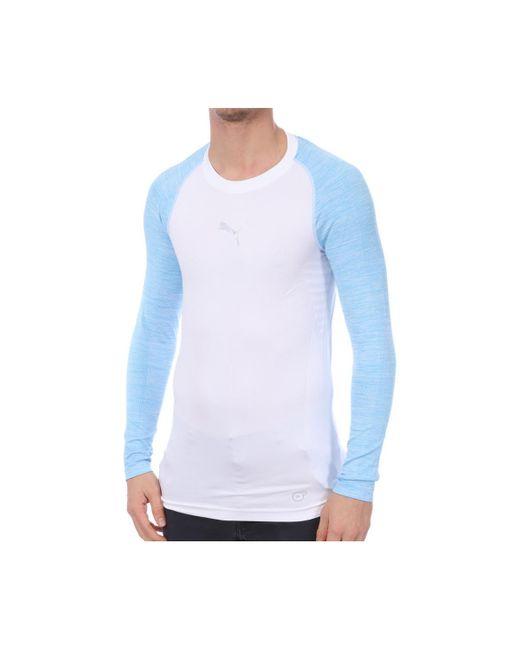 Camisetas manga larga PUMA de hombre de color Blue