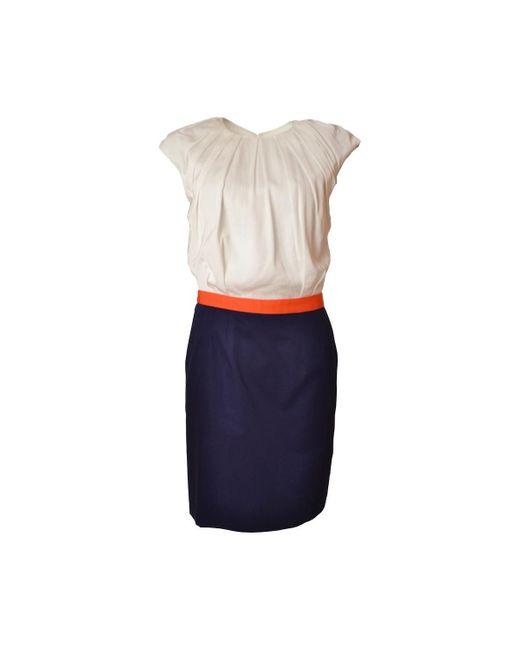 Robe Tricolore pour femme femmes Robe en Doré Gant en coloris Metallic
