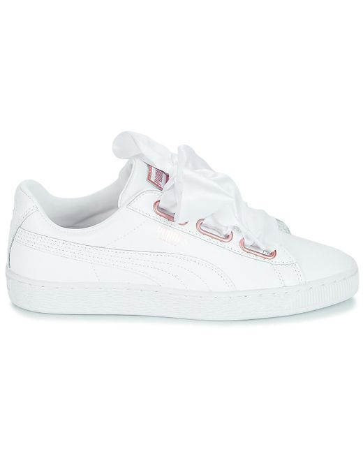 PUMA Wn Suede Heart Leather.whi Shoes (trainers) in White