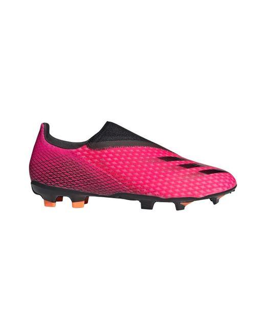 X GHOSTED3 LL FG Adidas de hombre de color Pink