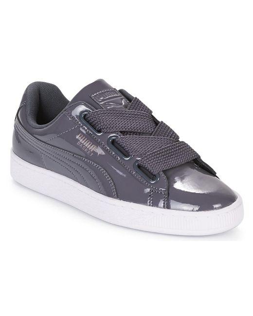 cheaper b8137 dc615 Women's Gray Wn Basket Heart Patent.iro Shoes (trainers)