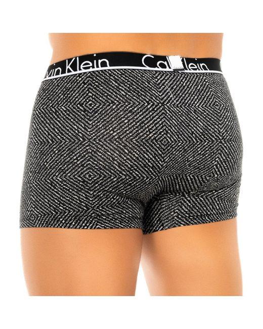 Calvin Klein Boxers Pack-2 Boxer Rétro Calvin Klein in het Black voor heren
